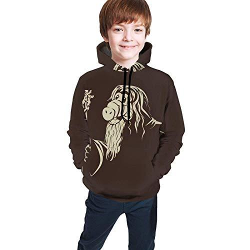 huatongxin Alf Langarm Teenager Hoodies Sweater Jacke Athletic Sweatshirts Pullover Classic Jungen und Mädchen