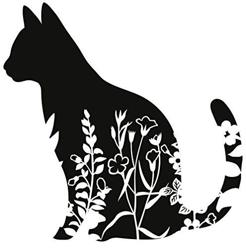 Aufkleber Katzen Sticker Tiere Tierschutz Love Cats ca. 11x11 cm