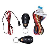Terisass Car Remote Central Lock Locking Keyless Entry System Remote Start and Keyless Entry Car Alarm Security System 2 Key Fob Remote Controls