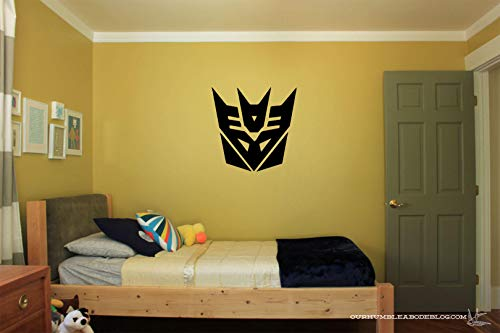 Transformers Logo Vinyl Wall Decal Sticker, Kids Room Vinyl Wall Decor, Transformers Wall Art, Wall Art Stickers, Home & Living Kids BedRoom
