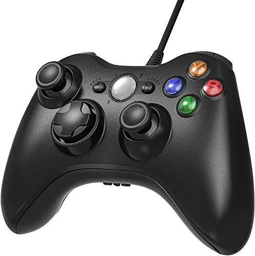 Manette Xbox 360,Manette pour Xbox 360 Manette Filaire avec USB Câble de 2 Mètre pour Xbox 360 / PC Windows 10/8 / 7