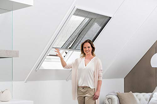 empasa Insektenschutz Fliegengitter Dachfenster Plissee 'MASTER' Selbstbausatz Alurahmen