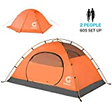 Gonex Camping Tent, 2 Person Backpacking Tent Waterproof Windproof Dome Tent for Snow and Cold for Camping Hiking Backpacking Mountaineering