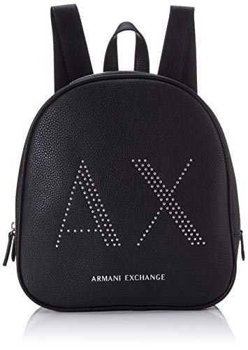 Armani Exchange dames Pebble with Studs rugzakhandtas, 26,5 x 8,5 x 24 cm