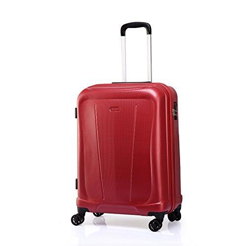 Verage Hero Handgepäck Koffer Rot S-48cm(19') Trolley Suitcase Reisekoffer Marken-Qualitätsware, Zahlenschloss, 4 Doppelräder, 55x40x20cm 35L Kabinenkoffer erweiterbar auf 55x40x25cm 44L