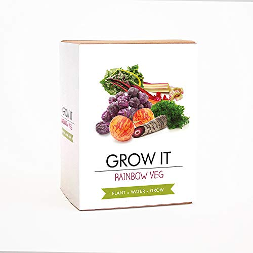 Gift Republic Rainbow Veg Grow It Blanc