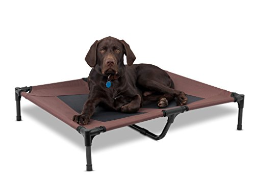 BIRDROCK HOME Internet's Best Dog Cot - 36 x 30 - Elevated Dog Bed - Cool Breathable Mesh - Indoor or Outdoor Use - Medium - Brown