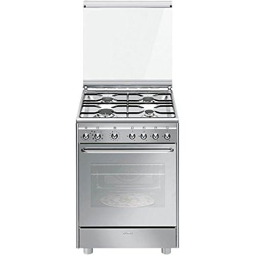 Smeg CX60SVPZ9 Libera installazione Piano cottura a gas A Acciaio inossidabile cucina