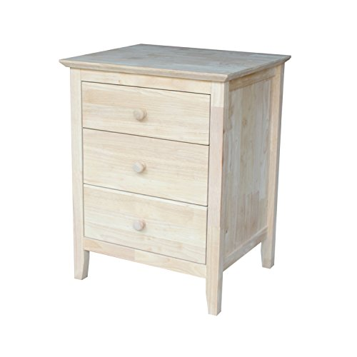 International Concepts Nightstand with 3 Drawers, Standard