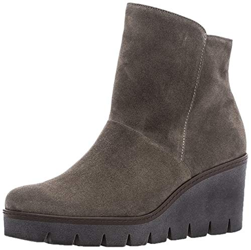 Gabor Damenschuhe 73.784.13 Damen Stiefeletten, Wedge Boots, Stiefel, mit verbreitener Auftrittsfläche, mit Reißverschluss, mit Keilabsatz Braun (Wallaby), EU 5.5