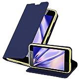 Cadorabo Coque pour Nokia Lumia 630/635 en Classy Bleu FONCÉ – Housse Protection avec Fermoire Magnétique, Stand Horizontal et...