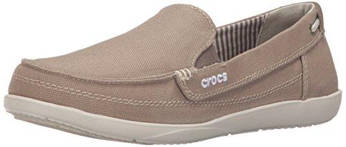 Crocs Women's Walu Loafers, Khaki/Stucco, 7