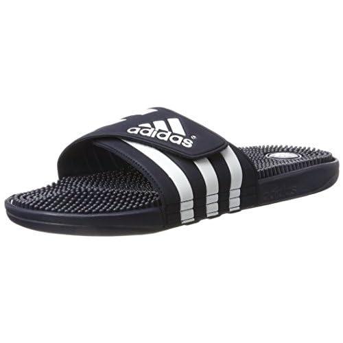 adidas Adissage, Scarpe da Spiaggia e Piscina Unisex-Bambini, Blu (New Navy/New Navy/Running White Footwear), 38 EU