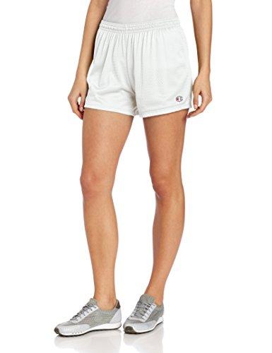 Champion Women's Mesh Short, White, Small