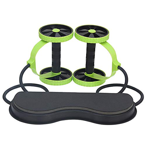 Buy Multifunctional Abdominal Muscle Roller, Durable Two-Wheel Fitness Equipment with Resistance Ban...