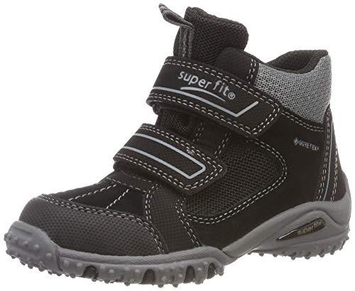 Superfit Jungen SPORT4 Hohe Sneaker, Schwarz (Schwarz/Grau 00), 34 EU