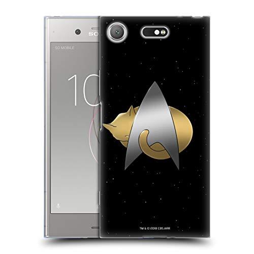 Head Case Designs sous Licence Officielle Star Trek Delta Logo Chats TNG Coque en Gel Doux Compatible avec Sony Xperia XZ1 Compact