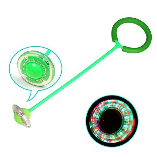 Yangyme Kinder Flash Jumping Balls Spielzeug Baby Kids Sport Fitness Sprungball blinkend Skip Ball Licht Hoppe für Erwachsene und Kinder, Springseil Sport-Spielzeug – 1 Stück, grün, Einheitsgröße