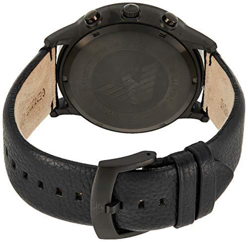 Emporio Armani Homme Chronographe Quartz Montre avec Bracelet en Cuir AR2461