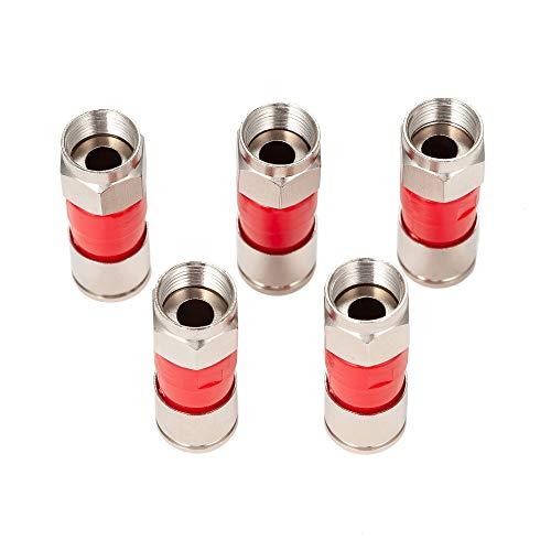 Conector de Cable Coaxial Rg6, 5 Unidades, Rg6, para Satélites, Directv, Dish, TV, Dtv, TWC y Conexiones de Antena.