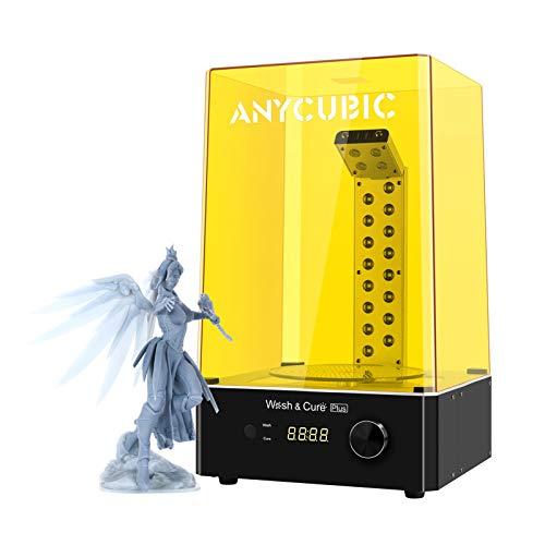 ANYCUBIC Wash and Cure Plus Maschine, größten 2-in-1 UV Waschen und Aushärten Maschine für LCD/DLP/SLA 3D Drucker Modelle mit 360° Drehbarem Aushärtetisch for Photon Mono X/Mono 192 * 120 * 290 mm