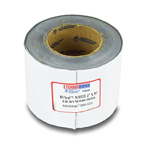 EternaBond RV Mobile Home Roof Seal Sealant Tape & Leak Repair Tape 4' x 50' Roll White Authentic (4''-50ft)