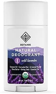 Botanik Natural Deodorant for Women - Organic - Aluminum Free - Vegan - Chemical Free - Wild Lavender - 2.5 oz