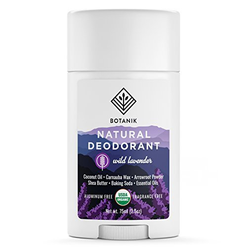 Botanik Organic Deodorant for Women - All Natural - Aluminum Free Deodorant - Vegan - Wild Lavender - 2.65oz Stick