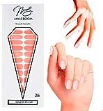 ManiBoom 26 Tiras de Uñas - Pegatinas Decorativas Para Uñas Semipermanentes - Calcomanías Nail Polish Autoadhesivas - Nails Stickers Adhesivos de Esmalte (Nena de Azucar - Rosa Pastel)