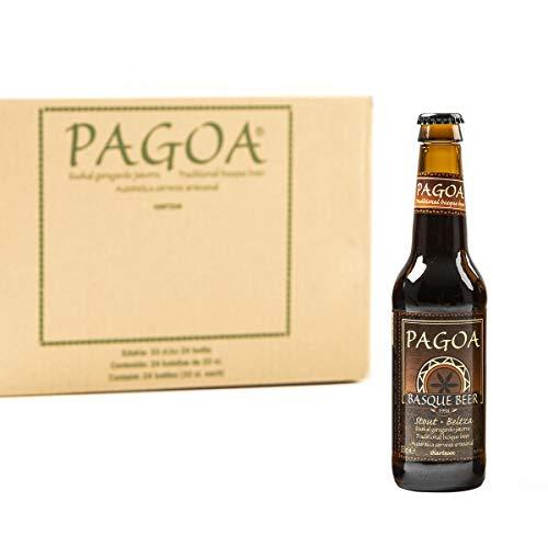 Pagoa- Cerveza Artesana - Pack 12 Botellas x 33 cl – Cerveza Negra Stout de Alta Fermentación - Pioneros de la Cerveza Artesanal desde 1998 - Formato Ideal para Consumir en Casa