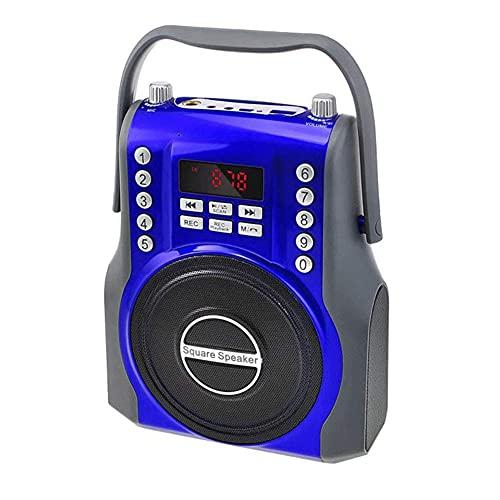 Altavoz Bluetooth inalámbrico Cuadrado de 15W Receptor de Radio FM Subwoofer Digital 3D Reproductor de MP3 de música portátil Tarjeta Micro-SD/TF Ranura USB