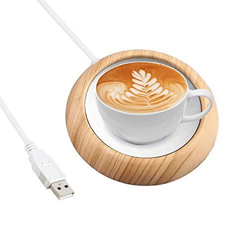 Gobesty Tassenwärmer USB, Becher Wärmer USB Kaffeewärmer, Elektrische Tassenwärmer Pad mit Elektrischer Heizplatte für Getränke, Kaffee, Milch, Tee