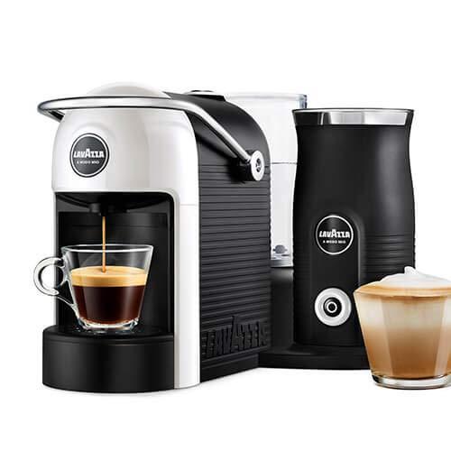 Lavazza A Modo Mio Jolie & Milk Coffee Machine,with Milk Frother, White