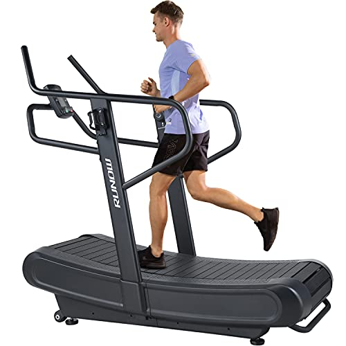 RUNOW Curved Treadmill, Non-Electric Motorized Treadmill for Commercial & Home Running Machine with...