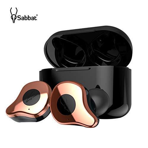 Linsoul Sabbat E12 Ultra TWS Bluetooth 5.0 True Wireless HiFi Earbuds, Sweatproof Noise Canceling Earphones with Built-in Mic for Sports Running (Copper)