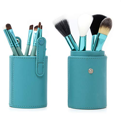 12 Piece Professional Brush Set with Vegan Leather Travel Case