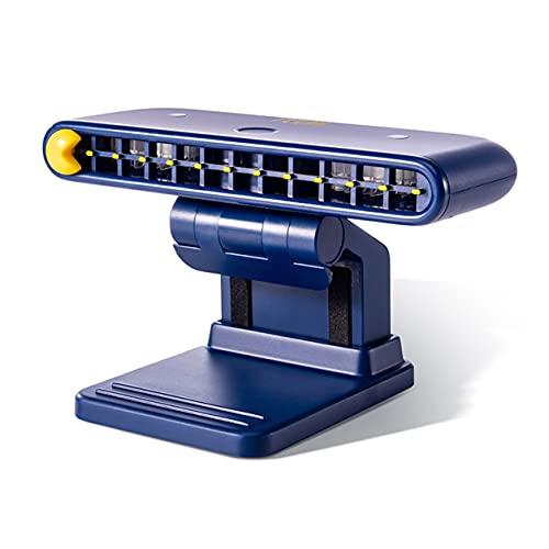 YXDS Ventola con Clip su Schermo del Computer Ricaricabile Ventola da Tavolo USB a 3 velocità con Supporto per Telefono per l'home Office