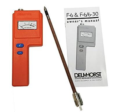 "Delmhorst F-6/6-30/1235 Analog Moisture Meter Package, 10"", 1235 Probe"