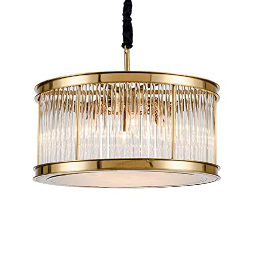 Lámpara de sala de estar posmoderna Restaurante nórdico personalidad atmósfera creativa simple modelo de villa redonda iluminación de cristal diámetro 50 cm Yang1mn