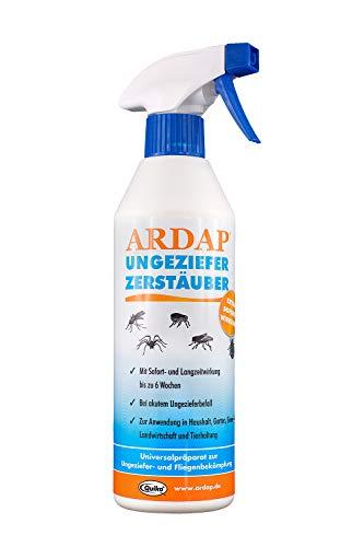 ARDAP Zerstäuber – Wirkungsvolles Insektizid gegen Fliegen, Schädlinge oder Lästlinge – Pumpspray für Zuhause oder in unmittelbarer Nähe von Tieren – 1 x 500ml