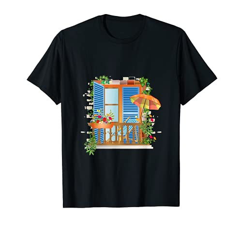 Les vacances peuvent être aussi belles sur les balcons. T-Shirt