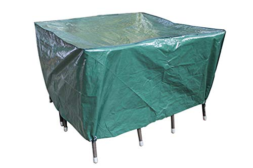 Laxllent Patio Table Protective Cover,Garden Furniture Cover,Waterproof Windproof Breathable,135x135x70 CM Green Polypropylene Cover for Outdoor Furnituresets Sofa