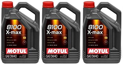 Motul 8100 X-max 0W40 volledig synthetische motorolie WSSM2C937A 505 00 LL-01, 15 liter