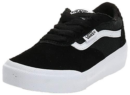 Vans Jungen Palomar Sneaker, Schwarz (Suede/Canvas) Black/White Iju), 35 EU