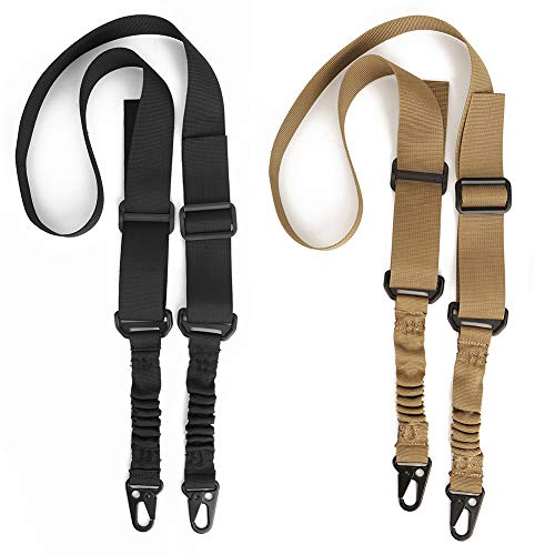Accmor Rifle-Slings 2 Pack, 2 Point and Traditional Sling with Metal Hooks for Outdoor