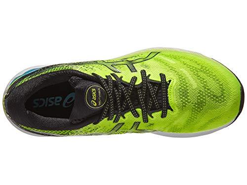 ASICS Men's Gel-Nimbus 23 Running Shoes, 8.5, Hazard Green/Black
