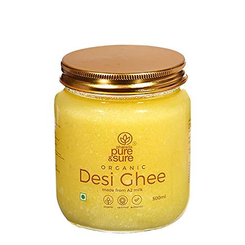 Pure & Sure Organic Desi Ghee 500ml , A2 Milk