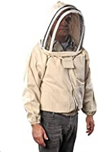 FOREST BEEKEEPING SUPPLY YKK Brass Zippers Cotton Fencing Hood Jacket for Beekeeper, 2X-Large