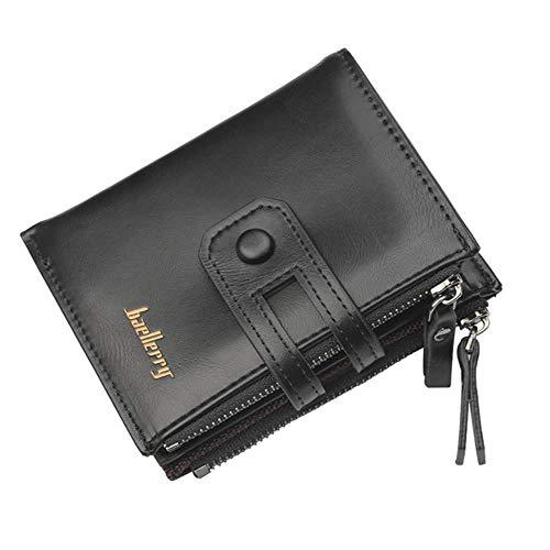 Ksde Heren korte dubbele rits multifunctionele portemonnee multi kaart nul portemonnee