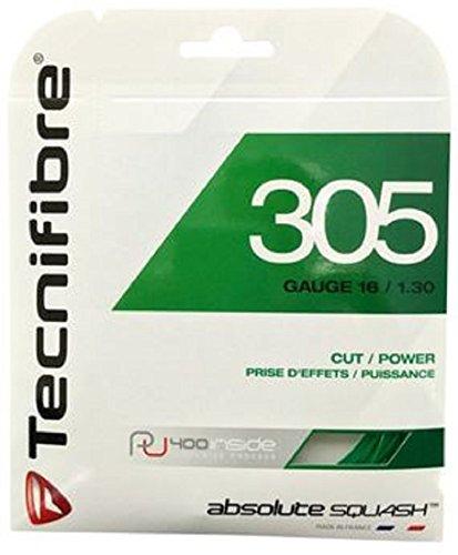 TecniFiber Tennis 305-1.30 - Cuerda de Squash para Adulto (Talla única), Color Verde